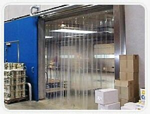 Strip Curtain Garage Door Size 10 X 7 Pvc Vinyl Cooler Freezer 6 Walk In Barn