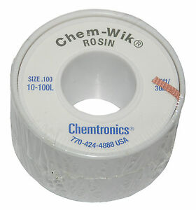 Chemtronics 10 100l 100 Solder Wic Wick Braid For Solder Removal From Circuits