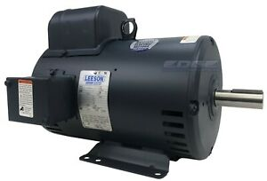 Leeson Electric Motor 132044 For Air Compressor 7 5hp 1 phase 184t C184k34db8a