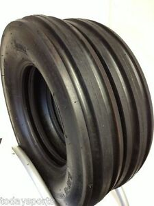Two 550x16 550 16 5 50x16 Deere Ford Six Ply 3 Rib Tractor Tires W tubes