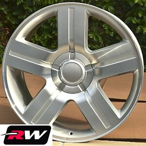 Chevy Silverado Texas Edition Wheels Silver Rims 20 Inch Fit Gmc Sierra Yukon
