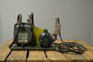 Cenco 91506 Hyvac Vacuum Pump Reliance Electric Motor 3 8 Ports 1 3 Hp 115 V