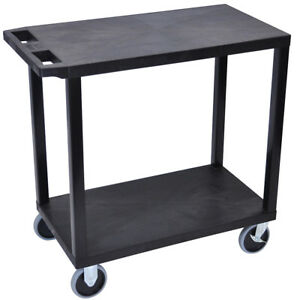 Luxor Ec22hd b 32 X 18 inch Black Plastic Multi purpose 2 Flat Utility Cart