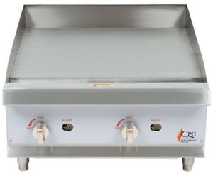 Countertop Gas Griddle 24 Inch Restaurant Professional Kitchen Flat Top Grill