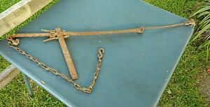 Barb Wire Fence Stretcher Rustic Decor Rusty Vintage Antique