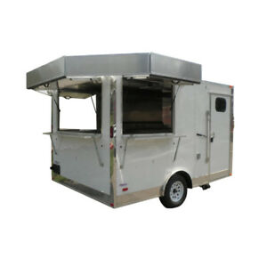 Concession Trailer 8 5 x12 White Event Food Catering Vending
