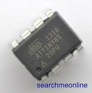 100 New And Genuine Attiny85 20pu Integrated Circuit Dip 8