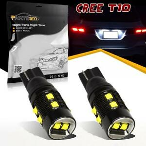 2x T10 W5w 921 2825 Backup Reverse Led Light Cree 50w For Chevrolet 2005 2015