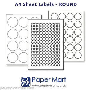 Round Clear Labels On A4 Sheets Labels Stickers For Laser Printers