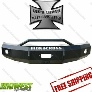 Iron Cross Steel Push Bar Hd Bumper Fits 2003 2004 2005 Dodge Ram 2500 3500