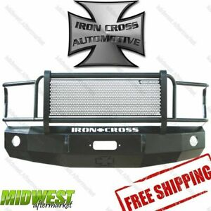 Iron Cross Steel Grill Guard Hd Bumper Fits 1992 2007 Ford E150 E250 E350 E450