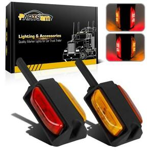 2x 4 Pre Wired Red Amber Dual Trailer Fender Clearance Marker Lights 4 Diodes