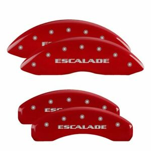 Mgp Caliper Brake Covers For Cadillac 02 06 Escalade Red Paint 35014sescrd