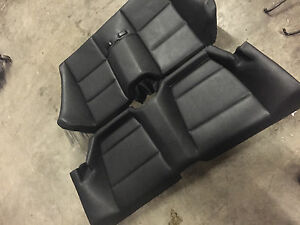 Bmw E46 M3 Convertible Rear Back Leather Seat Seats Oem Black 330ci 325ci 323ci