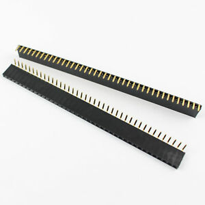 80pcs Pitch 2 54mm 40 Pin Right Angle Female Single Row Header Strip
