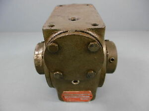 1 Used Hub City 212 Gearbox Ratio 10 1 Right Angle