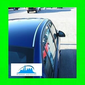 Fits 2004 2008 Acura Tsx Chrome Roof Trim Moldings 2pc W 5yr Warranty