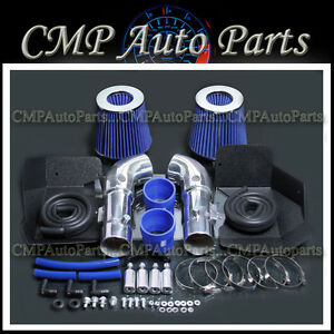 Blue Fit 2008 2013 Infiniti G37 3 7 3 7l Dual Cold Air Intake Kit Systems