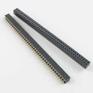 100pcs 2mm 2 0mm Pitch 2x40 Pin 80 Pin Female Dual Row Straight Pin Header Strip