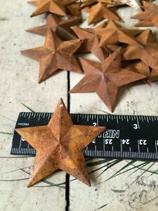 Set Of 20 Rusty Barn Stars 2 25 In 2 1 4 Primitive Country Rust Ships Free