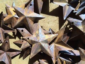 Set Of 20 Rusty Barn Stars 1 5 In 1 1 2 Primitive Country Rust Ships Free