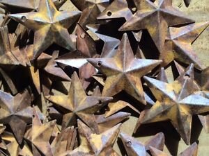 Lot Of 100 Rusty Stars 1 5 In 1 1 2 Primitive Country Crafts Rust Ships Free