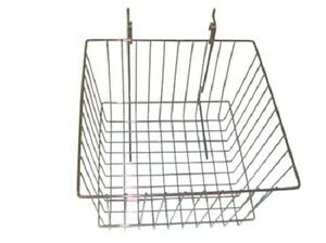 New Case Of 6 Slatwall Or Grid Basket 12 x12 x8 Chrome
