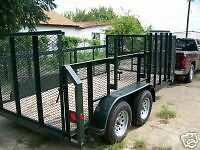 New 2019 77 X14 Professional Landscape Mower Utility Grass Haul Trailer