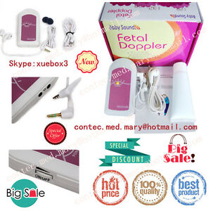 New Fetal Doppler Baby Heart Monitor Babysound A Doppler Usa Seller Promotion