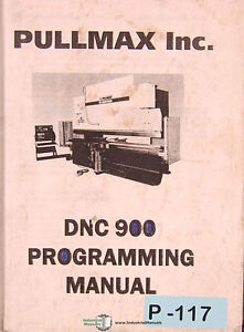 Pullmax Dnc 900 Press Programming Manual 2001