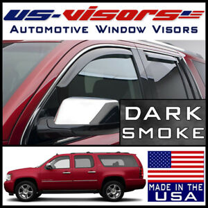 Us visors 2007 14 Chevy Suburban Window Vent Visors Rain Guards In channel 4 Pc