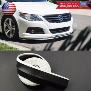 1 3 Black White Trim Ez Fit Bumper Lip Splitter Chin Splitter For Mitsubishi