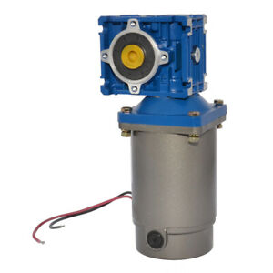 Dc 24v 36rpm Worm Geared Motor 100w Power With Gearbox Gear Head Ratio Optional