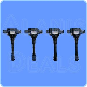 New Premium High Performance Ignition Coil Set 4 For Nissan Juke 2011 2015