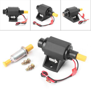 Universal Electronic Fuel Pump Low Pressure 35gph Micro Gasoline Pump 3 8 12d
