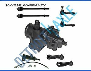8pc Complete Front Suspension Power Steering Gearbox Chevrolet Truck s 1500