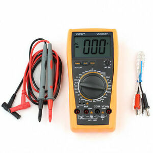 1 New Vc9808 3 1 2 Digital Multimeter Dcv Acv Dca r c l f Ship From Usa