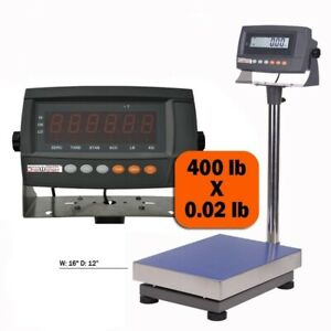 1 Digiweigh Digital Bench Scale model Dw 440 440lb Max battery Free Ship