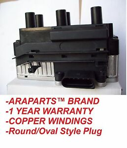 99 02 Vw Jetta Golf Gti V6 Vr6 2 8l Ignition Coil Pack New Round oval Plug