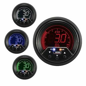 Prosport 60mm Evo Red Blue Green White Led Oil Pressure Gauge Bar Peak