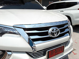 Fit For Toyota New Fortuner Suv 2015 2016 Chrome Front Hood Bonnet Cover Trim