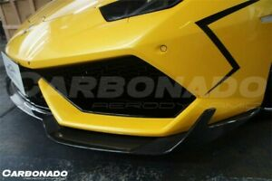 Lamborghini Huracan Lp610 Carbon Fiber Rz Style Front Lip Splitter Body Kit
