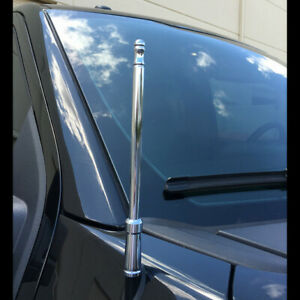 Chrome Billet 8 High Gain Radio Antenna Ford Chevy Gmc Ram Truck Recon