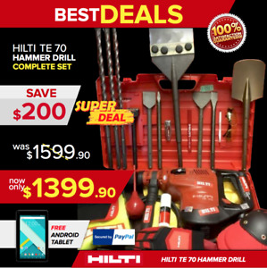 Hilti Te 70 L k New Model Te 76 Preowned Loaded Bits Germany Fast Ship