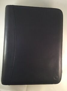 Franklin Covey Classic Zip Planner Organizer Nappa Leather Black 7 Rings 1 5 8