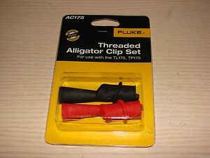 Fluke Threaded Alligator Clip Set Ac175 For Tl10 Tl19 Tl71 Tl75 Tl175 Tp175