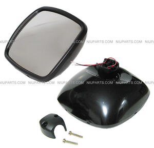 Freightliner M2 Columbia Rear View Wide Angle Mirror Black Heated passenger Side