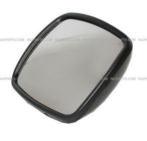 Freightliner M2 Columbia Rear View Wide Angle Mirror Black Not Heated Lh