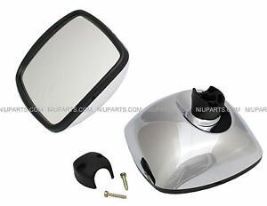 Freightliner M2 Columbia Rear View Wide Angle Mirror Chrome Passeng Side