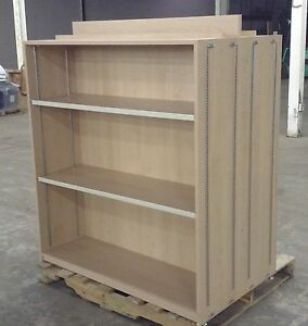 Double Sided Wooden Adjustable Shelves Retail Store Display Rack Local Pickup